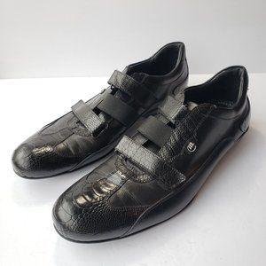 """Mauri """"Emerald City"""" Genuine Ostrich/Calf Sneakers"""